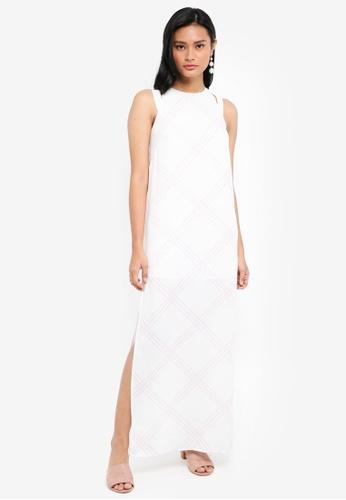 Something Borrowed white Cut Out Column Maxi Dress CBE02AA9C7DC29GS_1