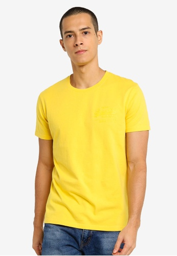 SUPERDRY yellow Vintage Label Premium Goods Tonal Injection Tee E692EAABDB7084GS_1