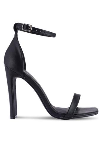 MISSGUIDED 黑色 仿皮繞帶高跟鞋 B1B56SHE090C95GS_1