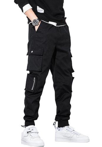 Twenty Eight Shoes black VANSA  Solid Color Plush Casual Pants  VCM-P1911V 34B7BAAD76BEB8GS_1