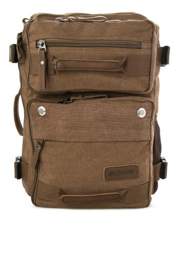 Chase Fashion brown Raine 2-in-1 Canvas Duffel Backpack CH547AC74DVXPH_1