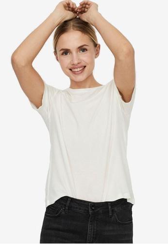 Vero Moda white Ava Short Sleeves Tee CD423AA58A7EF6GS_1