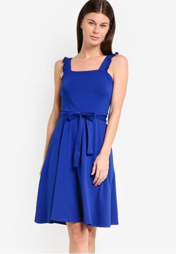 Dorothy Perkins blue Cobalt Ruffle Sundress DO816AA62PPLMY_1
