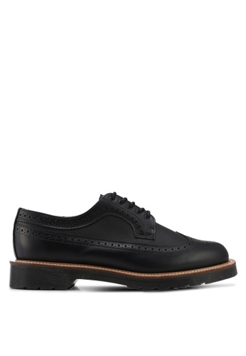 Dr. Martens black Core Originals 3989 Straw Brogue Shoes DR086SH0SX69MY_1