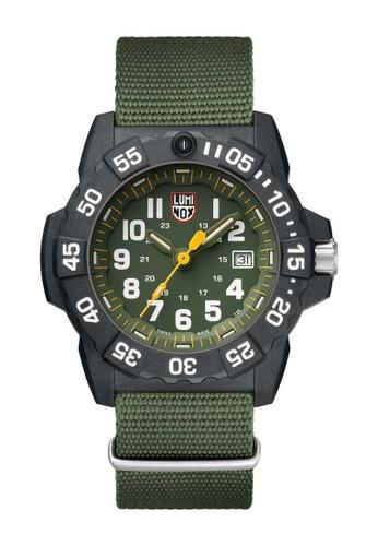 Luminox green Luminox Navy Seal Black and Green Nylon Watch DE7AFACD17BC21GS_1