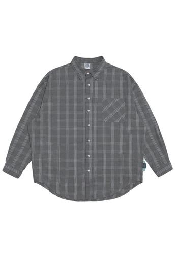 Twenty Eight Shoes Oversize Plaid Shirt 2088W20 1F570AA826FFE8GS_1