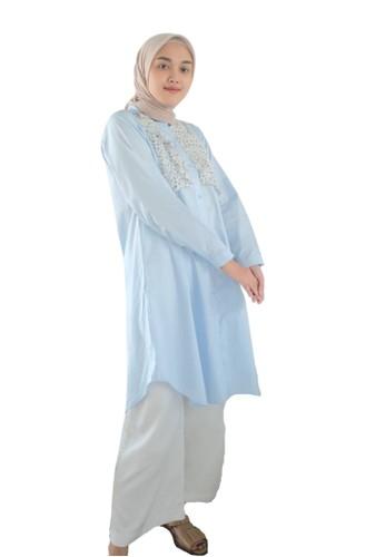 ABAME. blue LUCA BLOUSE CD763AAB07E43AGS_1