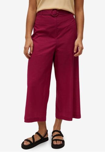 Violeta by MANGO red Plus Size Belt Culotte Trousers F7B08AAB224883GS_1