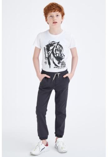 DeFacto white Boy Knitted Short Sleeve T-Shirt 3A41CKAB407A5DGS_1