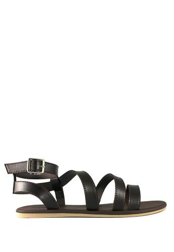 STEFANIA BALDO brown Aneisha Sandals ST294SH13DKWID_1