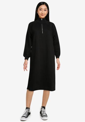 GAP black Plain Sweat Dress 9EE60AA12032E8GS_1