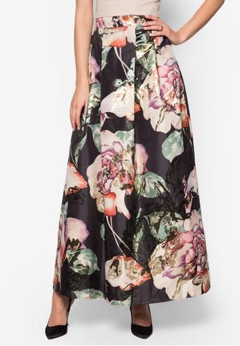花卉esprit台灣門市圖案提花長裙, 服飾, 裙子