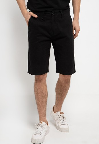 SHARKS black Casual Short Pants 6DEDCAA29783CEGS_1