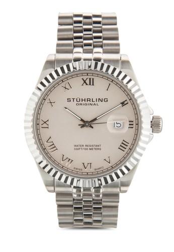Stuhrling Original 599G.01 Symphony Regent Coesprit outlet 家樂福ronet 不銹鋼鏈錶, 錶類, 飾品配件
