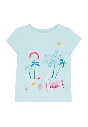 Du Pareil Au Même (DPAM) blue Summer T-Shirt 8CCC7KA73B5B1FGS_1