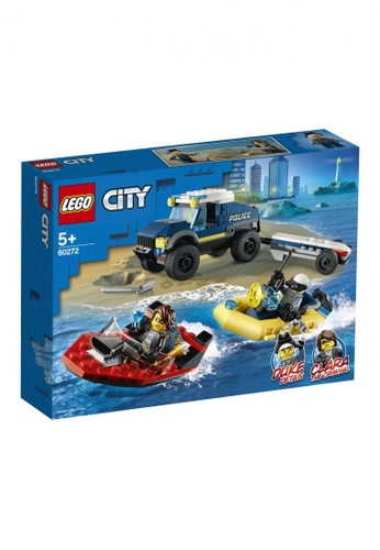 LEGO multi LEGO City Police 60272 Police Boat Transport (166 Pieces) 7355ATH3908544GS_1