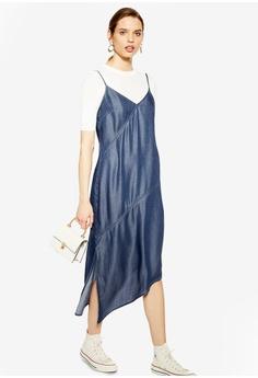 2d7a1460782 TOPSHOP blue Indigo Asymmetric Midi Dress C1443AA03A30FEGS 1