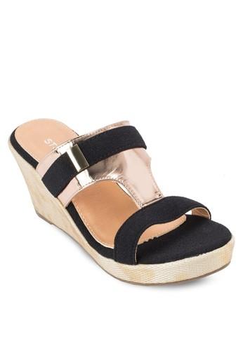 反光PU 楔型涼鞋, 女鞋, 楔zalora taiwan 時尚購物網形涼鞋
