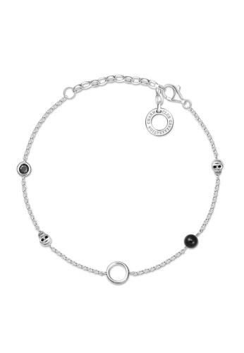 "THOMAS SABO silver Charm bracelet ""Skull"" A4901AC5A936FAGS_1"