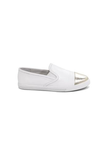 prettyFIT white White Leather Slip-On Sneakers BEC67SH37FD086GS_1