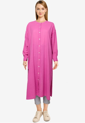 niko and ... pink Open Back Long Shirt 1643FAABFBE89AGS_1