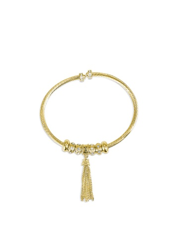 Her Jewellery gold Mia Love Bangle (Yellow Gold) - Made with premium grade crystals from Austria HE581AC0RBHMMY_1
