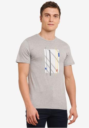 ZALORA grey Abstract Printed Tee 67640AA730BC6AGS_1
