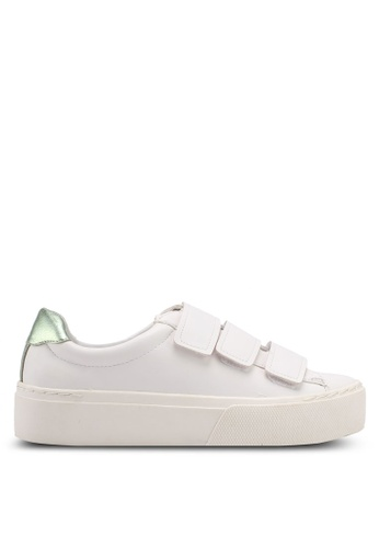 Mango white Platform Velcro Fastening Sneakers B68D7SH37FBCA8GS_1