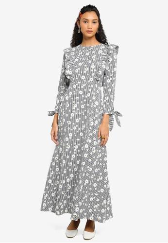 Lubna black Ruffle Sleeve Dress 2A654AAD725ADDGS_1