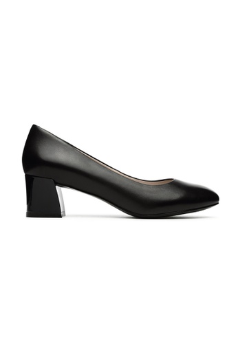 Byford black Bremnet Round Toe Heels 180A4SH5DA2628GS_1