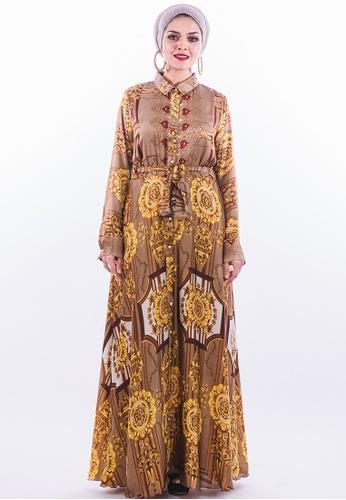 Persian brown and gold FaraPersian - Style 34 7FBA4AA2154E2BGS_1