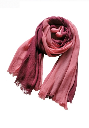 HAPPY FRIDAYS pink Cotton Yarn Mix Color Tie Dye Scarf JW JS-1100 14378AC1B360D7GS_1