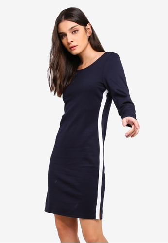 Vero Moda navy Bianca Short Dress 61A4FAAE51EC28GS_1