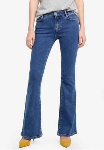 Mango blue Flared Jeans 0E100AACF62FC3GS_1