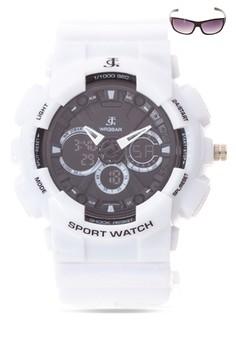 Analog Watch With Free Sunglasses JC-H1113K-SW-01
