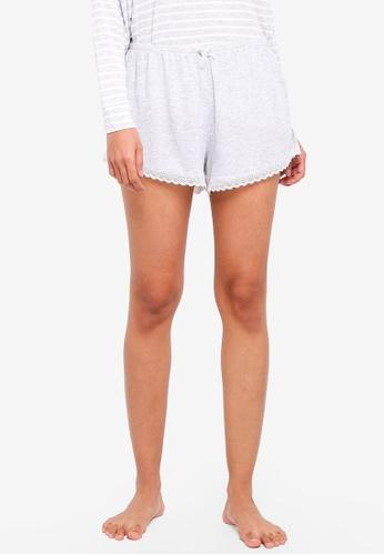 Cotton On Body grey Rib Lace Shorts F56EDAABF85138GS_1