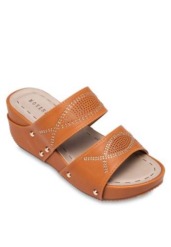 閃鑽寬帶楔esprit女裝型跟涼鞋, 女鞋, 楔形涼鞋