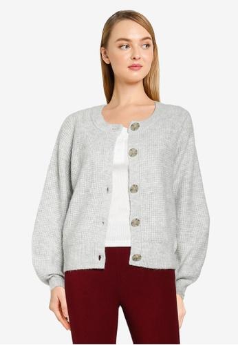 GAP grey Textured Button Cardigan F0A51AA57AD40FGS_1