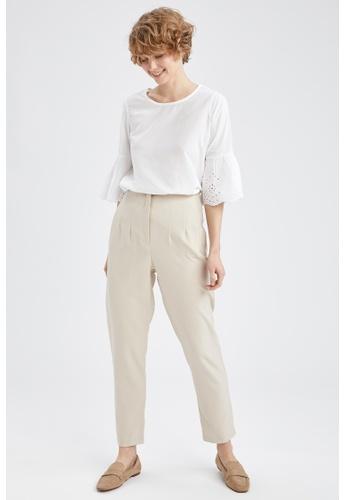 DeFacto beige High Waist Trousers 31103AAEB920F8GS_1