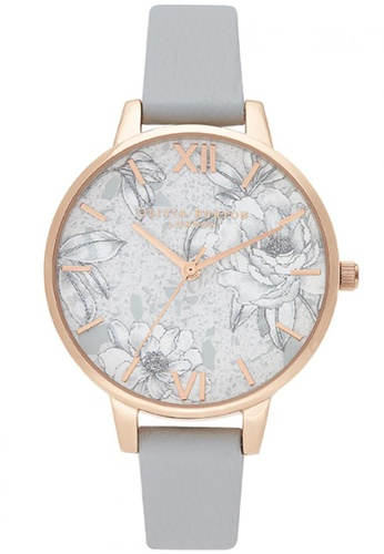 Olivia Burton gold Olivia Burton Terrazzo Florals GREY Women's Watch (OB16TZ01) 9E389ACE6E38F5GS_1