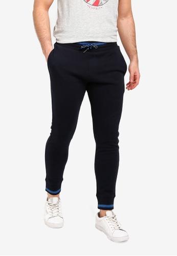 ESPRIT 黑色 抽繩針織褲 72D3FAA570E38EGS_1