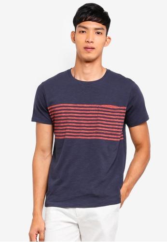 ESPRIT 海軍藍色 Short Sleeve T-Shirt BEFFCAA90F5DA6GS_1