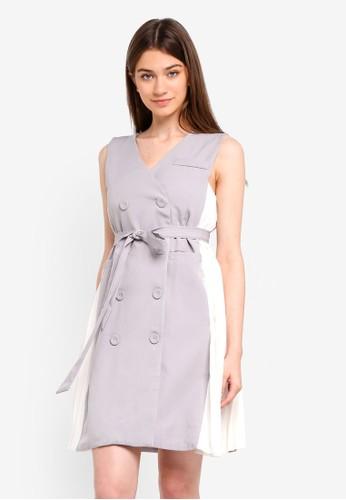 Megane grey Theola Dress B87EDAAFA54FA6GS_1