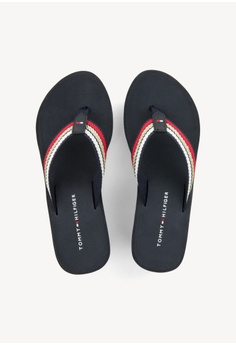 e42a99cdc7 20% OFF Tommy Hilfiger ICONIC WEDGE BEACH SANDAL RM 309.00 NOW RM 247.20  Sizes 36 37 38 39