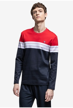 b1c73fa5bfb6 Fila navy Ginny Long Sleeve T-shirt 6ED3EAAAEBA038GS 1