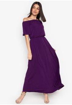054f3e4542222 ccicci purple Odessa Off Shoulder Maxi Dress 25872AADF9E5FFGS 1