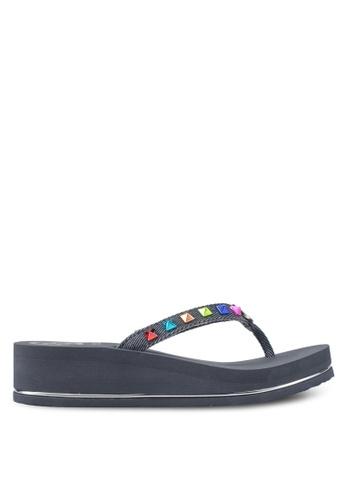 Guess navy Beach Sandals & Flip Flops B0CFASH4E94D9CGS_1