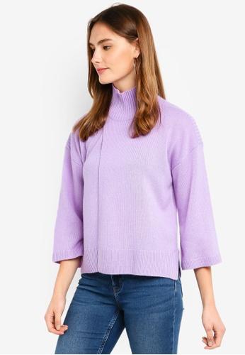ESPRIT 紫色 長袖罩衫 9EC31AA1D03437GS_1