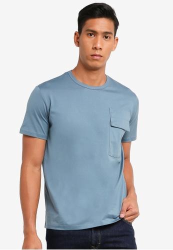 SPARROW GREEN blue Mason premium cotton tee (Regular Fit) 3957AAA0388AD1GS_1