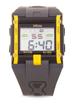 Box Sport Watch Unisex Yellow Resin Strap Watch XJ-852